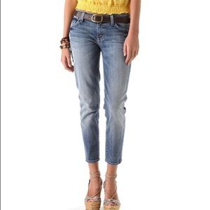 7 For All Mankind Roxanne Destroyed Crop Jean